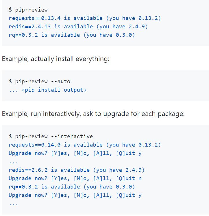 Python 如何批量更新已安装的库