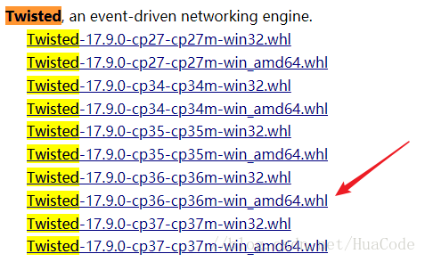 pip安装提示Twisted错误问题(Python3.6.4安装Twisted错误)